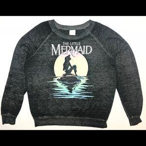 The Little Mermaid Long Sleeve Sweater Gray Disney